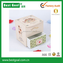 Owl design jewelry box make up box with mirror with drawer