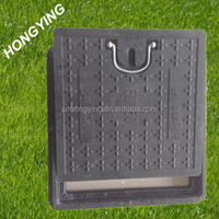 black square manhole cover with handles