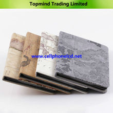Map Design Print Stand Magnetic Leather Cover Case For Apple iPad Mini