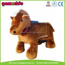 AT0630 game car animatronic horse kids mechanical car whosesale plushed animal motorbike