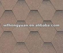 Colorful Bitumen Tiles for Roofing with Fiberglass Felt