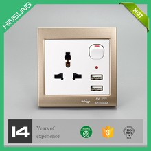UK electric USB wall socket 240v 2.1a usb outlet