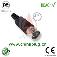 Male power 5 pin din connector