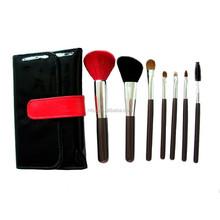 NANFANG 7pcs Natural Hair makeup brush set mini travel cosmetic brush portable pouch