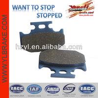 High quality brake pads for YAMAHA dt125;ATV brake pad for YAMAHA;brake pad for KAWASAKI kx 250 motorcycle