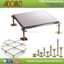 FS800 60x60cm HPL anti dust/anti static/fireproof/raised floor with pedestal stringer in construction building