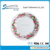 Beautiful design corrugated melamine decorative plastic plates