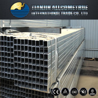 hot dipped Galvanized Welded Rectangular / Square Steel Pipe/Tube/Hollow Section/SHS