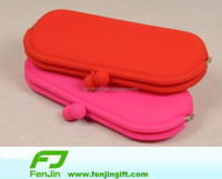 customized promotion silicone purse rubber