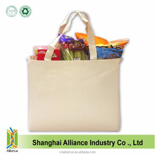 Custom Reusable Shopping Eco Plain Tote Grocery Cotton Canvas Bag