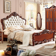 cheap price king size bed night stand dresser wood color european style bedroom sets