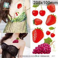 QC617/Temporary Tattoos Sticker- Cherry/strawberry/Grape Cute Fruit Tattoo