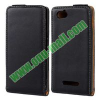 Up and Down Flip Pattern Genuine Leather case flip cover for sony xperia m case C1904 C1905