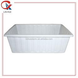 Large food grade PE material plastic tank rectangular container for aquaponics