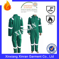 Factory softy works clothing 100% cotton EN471 THPC finished Fireproof coveralls