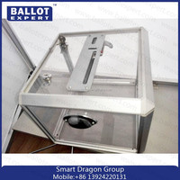 High Quality Acrylic Donation Lock Boxes/ Acrylic Vote Box Whith Lock