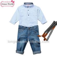 alta do bebê da forma partido dos miúdos ternos para roupas de menino conjuntos de roupas infantis