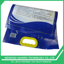 5kg gravure printing plastic pe vacuum patch handle rice bag