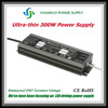 (Newest & most cost effective) slim led driver 300w 230v / 110v ac to 24v dc power supply for led flexible strip