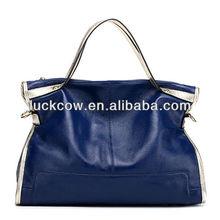 Genuine Leather handbags fashion ladies cowhide tote bags wholesale women shoulder bag