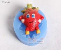 silicone dragon fruit shape cake mould,silicone cake mould 3d,fonant cake decorating tools
