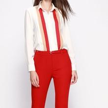 De nível superior nova chegada coréia blusa da moda projetos uniformes escritório para as mulheres calças e blusa