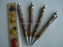 customized full color printing plastic ballpoint pen for advertising