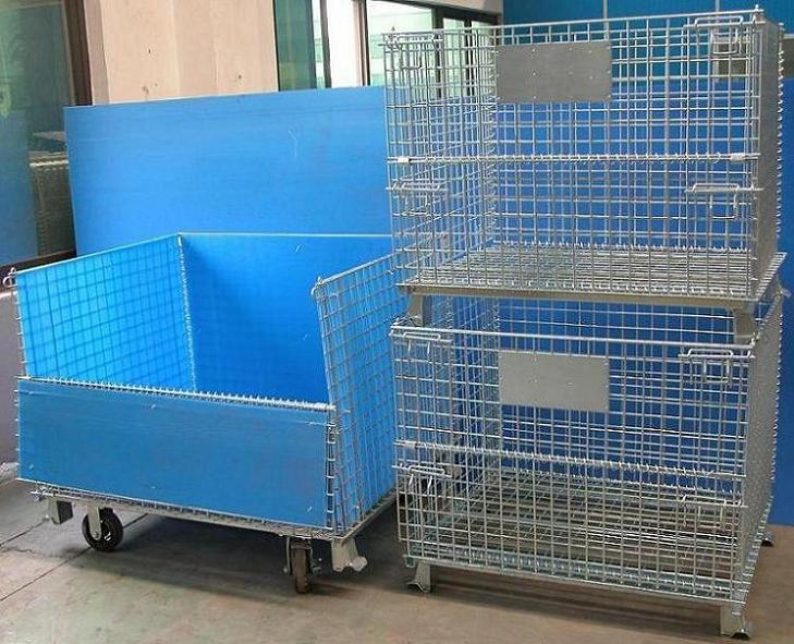 Foldable Shopping Roll Cage/wire Mesh Trolley/cargo Trailer - Buy ...