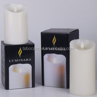Ivory Wax Flameless Moving Wick LED Candle/Quality moving wick led candle products