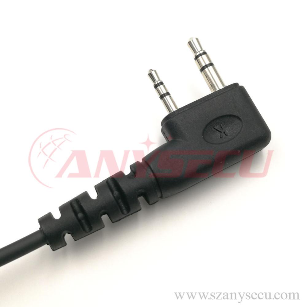 2 pin finger ptt motorcycle helmet headset microphone mic hf 3 5l k1 for walkie talkie for