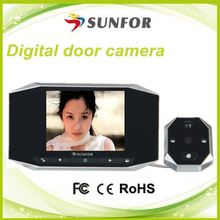 "new product 2014 3.5"" lcd wide angle smart digital peephole viewer doorbell door eye video camera"
