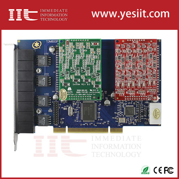 Compresa AEX800 8 Ports con 8 FXS tarjeta del asterisco para IP Voip de Digium AEX800 Openvox A800E ATCOM AX800E FreePBX Elastix