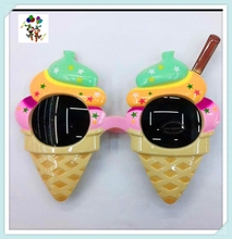 Cheap Plastic Novelty Gift Ice Cream Crazy Party Favor Glasses HPC-1618