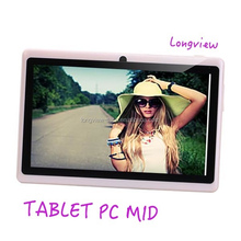 A33 Quad core 7inch android 4.4 super smart tablet pc wifi front/rear Camera 512MB/4G