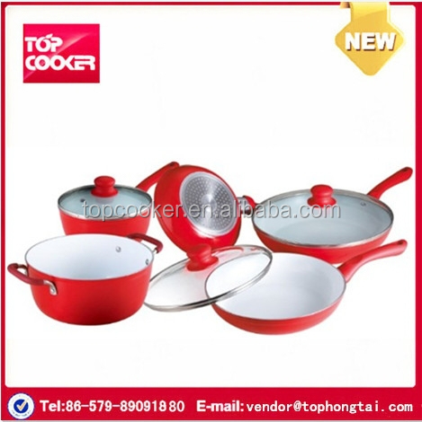 Aluminium ceramic royal kitchen set cookware buy royal for Kitchen set aluminium royal