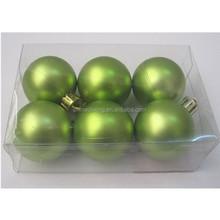 2015 Apple green matte Christmas balls Xmas decorations