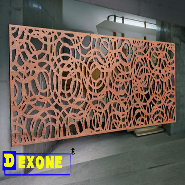 Metal Engraved Aluminum Perforated Sheet For Fence Screen