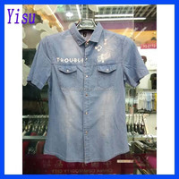 2015 new arrival mens jeans shirt