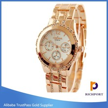2015 newest fashion casual brand wrist stainless steel watch