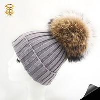 Fashion Big Fur Balls Winter Crochet Beanie Hats Winter Beanie Hats