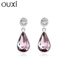 OUXI 925 sterling silver earrings super silver earring /diamond drop earrings wholesale jewelry with diamond Y20150