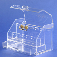 Clear high quality large acrylic body piercing ear jewelry display stand