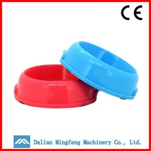 Fancy colorful low price plastic manufacturer dog bowl