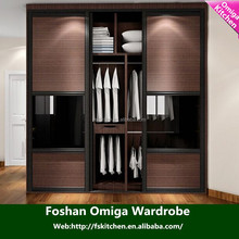 Modern bedroom furniture design sliding door wooden wardrobe closet