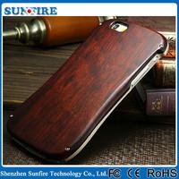 Vintage slim waist Metal bumper wood cover case for iPhone5 / 5s