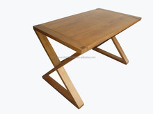cross leg wood dinning table