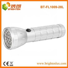 Factory Supply Good quality Cheap Price Aluminum Metal 28 Small led Flashlight with 3aaa battery