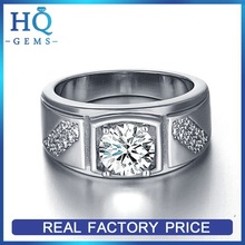 Quality useful 14k 585 white gold ring