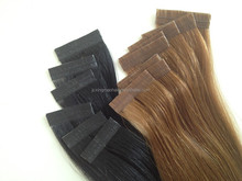 2015 Factory PU Skin weft Hair Extensions Double Drawn For Women