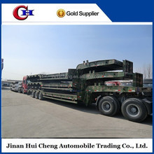 China CCC low bed trailer/lowboy trailer with FUWA axle